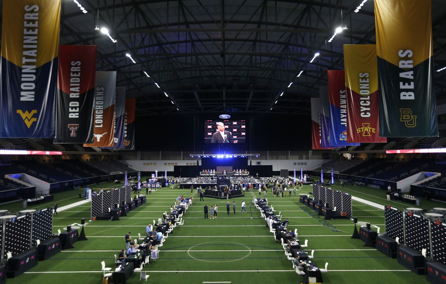The indoor field in the Ford Center was used for Big 12 Media Days last week at The Star in Frisco, shown July 16, 2018.
