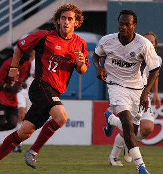 Jordan Stone #12 plays for the Dallas Burn against Colorado Rapids.