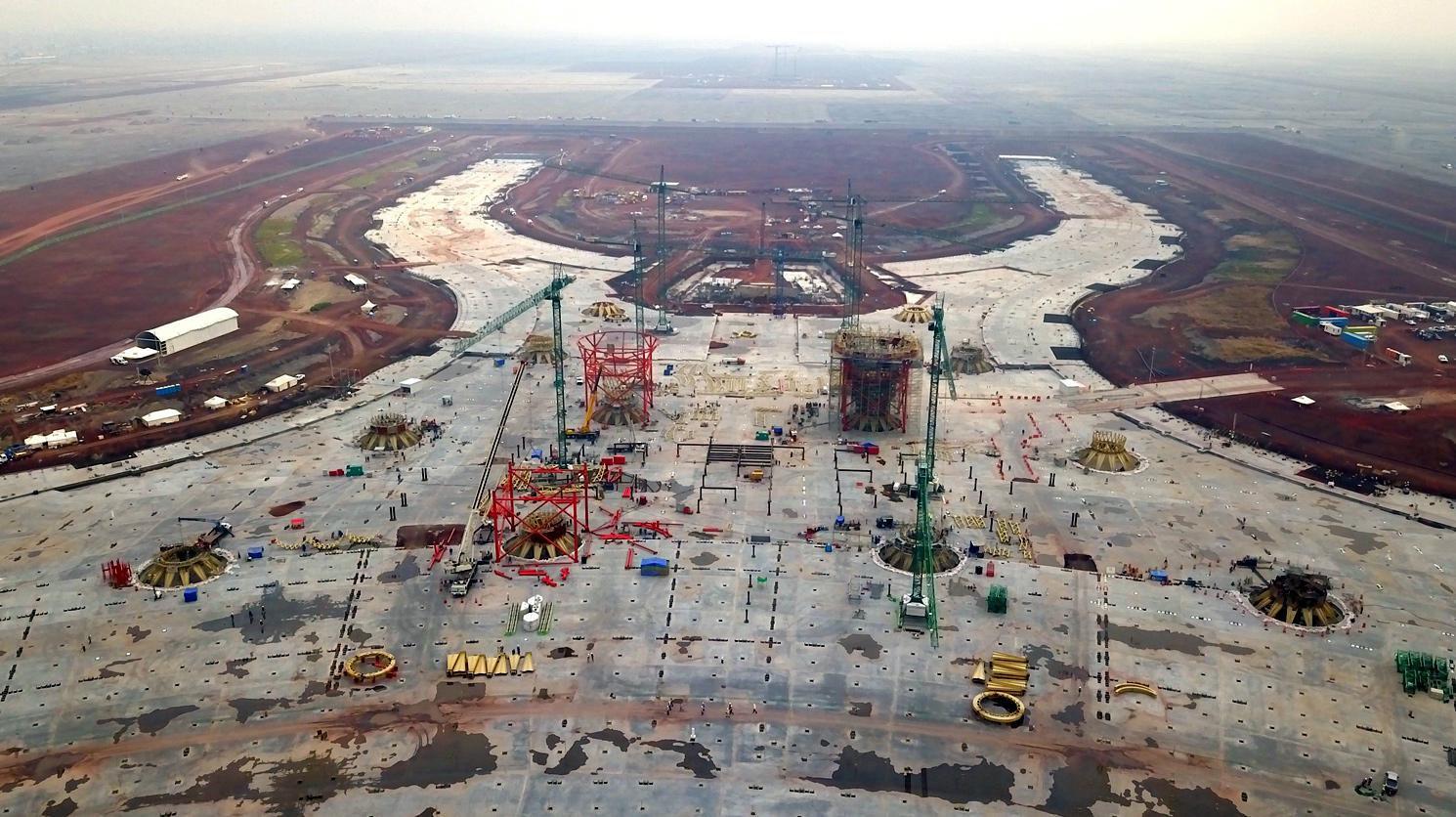 Construcción del Nuevo Aeropuerto Internacional de la Ciudad de México.(AGENCIA REFORMA)