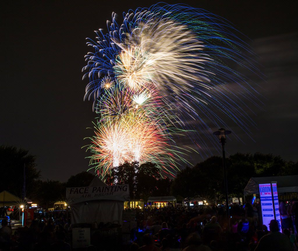 Check out the best fireworks shows in North Texas, starting with Addison Kaboom Town, one of the biggest.