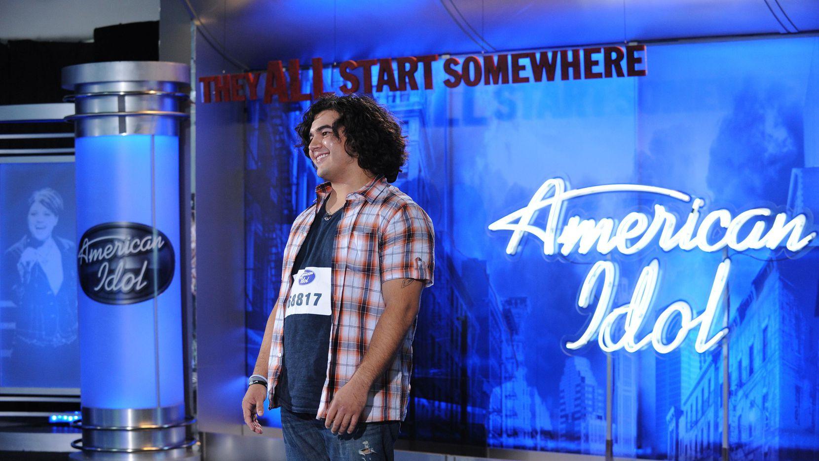 El concursante Chris Meida se presentó a una audición de American Idol en octubre de 2010.(AP)