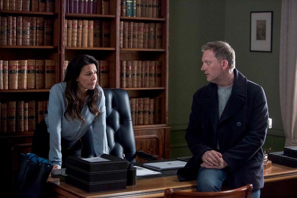 Julie Graham and Douglas Henshall appear in the Celtic noir crime show, Shetland.
