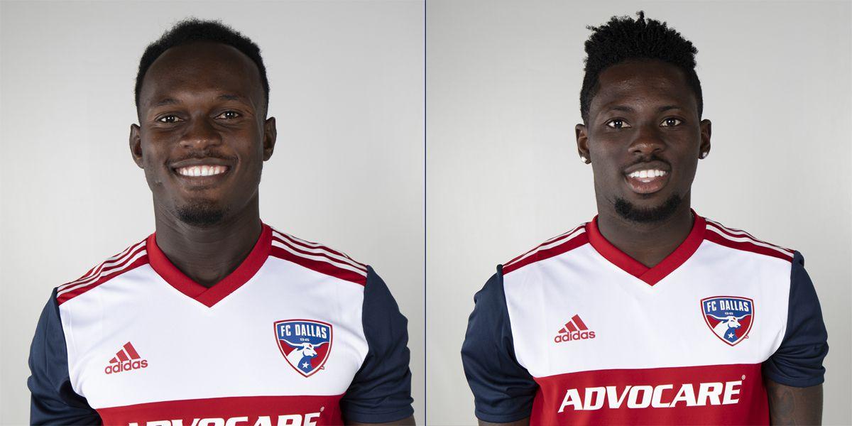 Francis Atuahene and Ema Twumasi of FC Dallas.