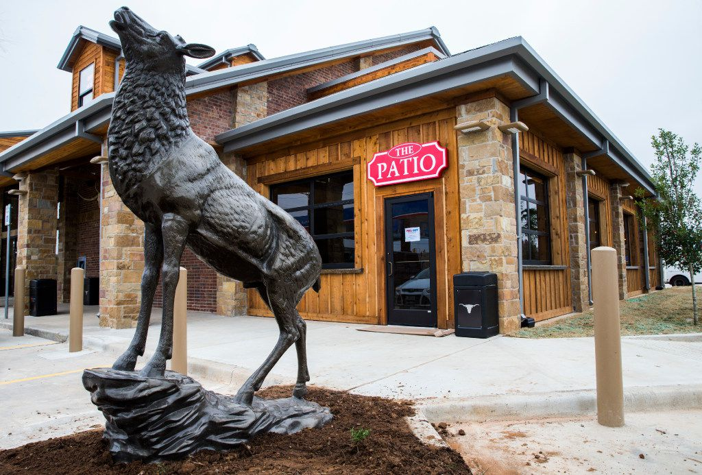 A statue outside The Patio area at a new Fuel City location on Friday, December 16, 2016 on Haltom Road in Haltom City. (Ashley Landis/The Dallas Morning News)