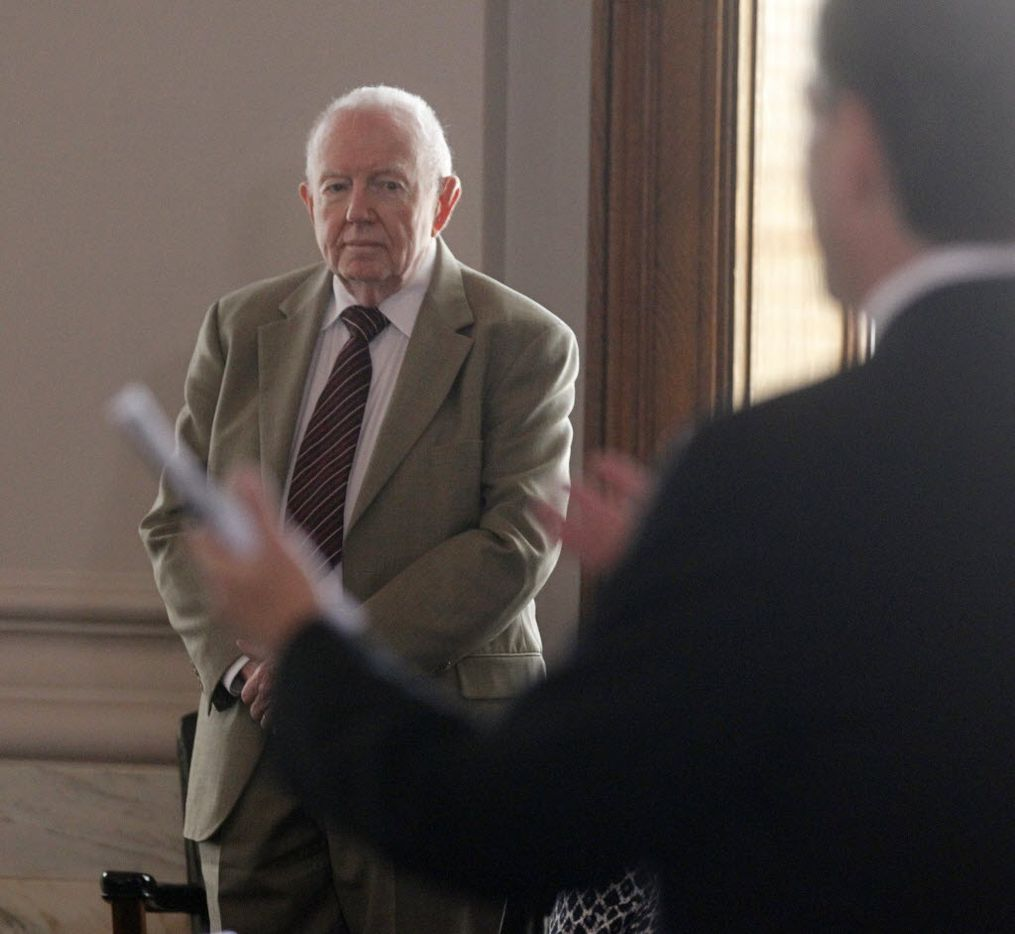 Dr. Robert McClelland acted as a juror in a mock trial for Lee Harvey Oswald at the old criminal courts building in Dallas on June 21, 2013.