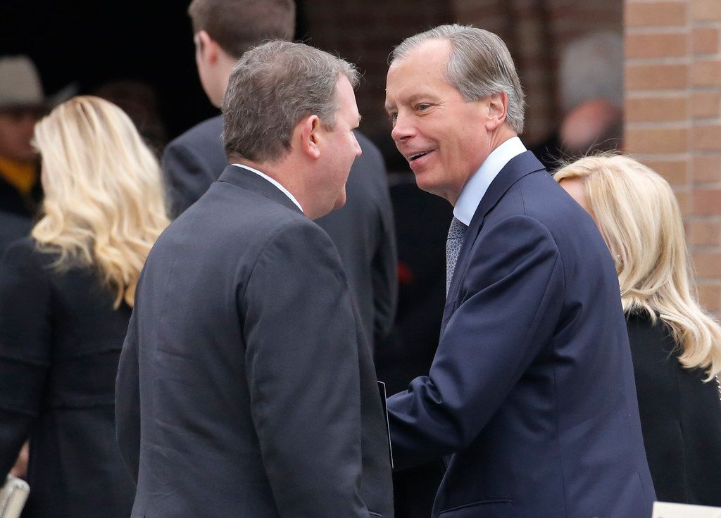 Texas politician David Dewhurst attended the funeral service for George H.W. Bush.