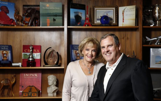 Nancy Strong and son Jim have been honored by 'Travel + Leisure' magazine for the one-of-a-kind trips they arrange for their clients.