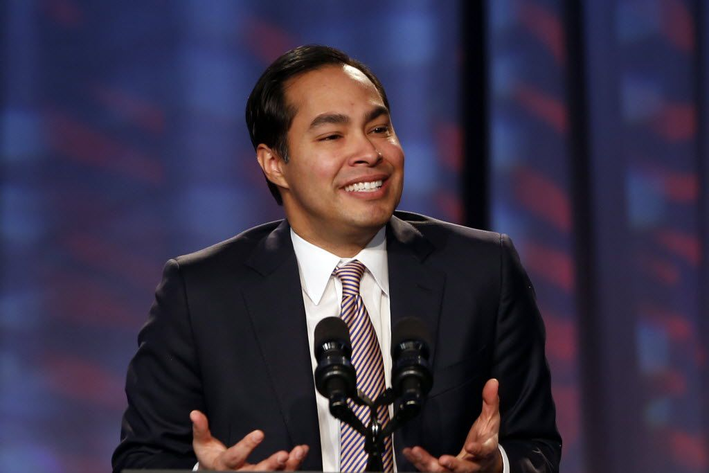 FILE - In this Jan. 23, 2014, file photo, San Antonio Mayor Julian Castro speaks about President Barack Obama's signature health care law at the Families USA's 19th Annual Health Action Conference in Washington. Obama is considering nominating San Antonio's mayor to be housing secretary. That's according to people familiar with the selection process. They spoke on condition of anonymity because they weren't authorized to discuss the matter by name. Castro would succeed Shaun Donovan, a member of Obama's original Cabinet. (AP Photo/Charles Dharapak, File)