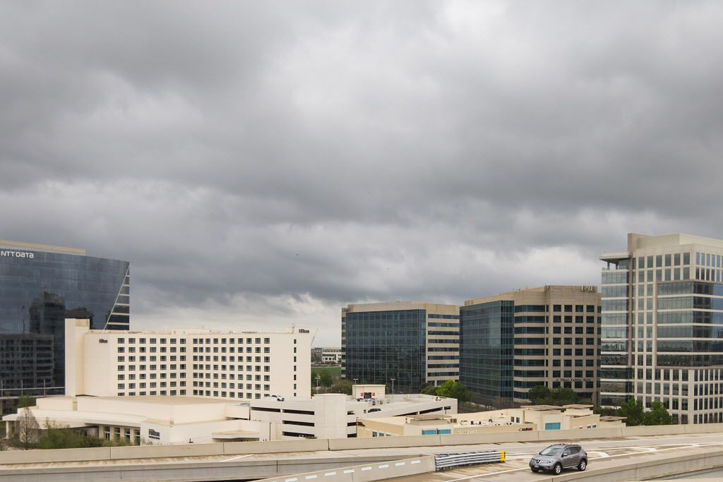 The Granite Park office park on the southwest corner of SH 121 and the Dallas North Tollway as seen from the tollway interchange on Wednesday, March 30, 2016, in Dallas. (Smiley N. Pool/The Dallas Morning News)