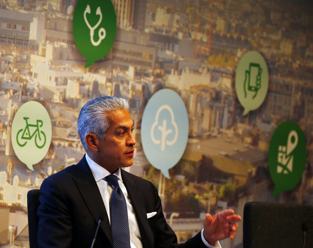 Javier Palomarez, president and CEO of the United States Hispanic Chamber of Commerce, takes part in a panel during the New Cities Summit 2014 Wednesday, June 18, 2014 at the Winspear Opera House in Dallas' Arts District.