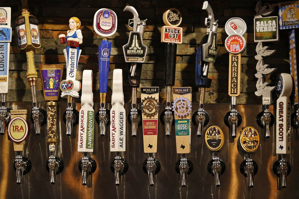 Beer on tap at Ron's Place in Addison, one of numerous craft-specific bars that have popped up in D-FW in recent years.