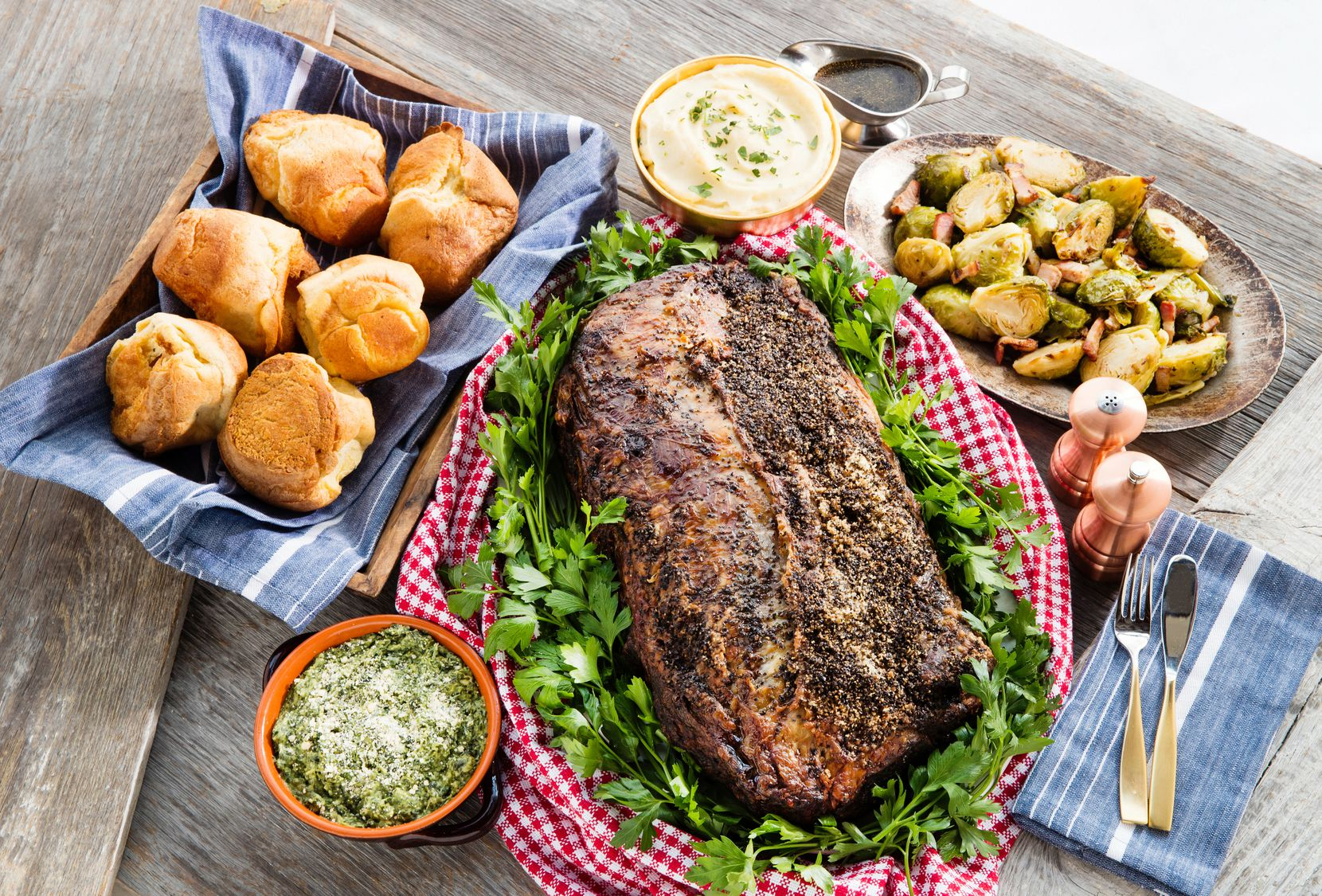 B&B Butchers & Restaurant offers a prime rib with Yorkshire pudding Thanksgiving menu to go.