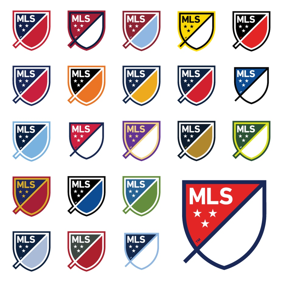 The new MLS logo with it's club specific variations.