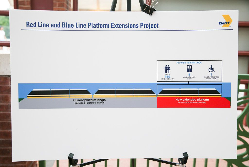 A rendering of the DART expansion was displayed during an announcement at the downtown Plano DART station Thursday.