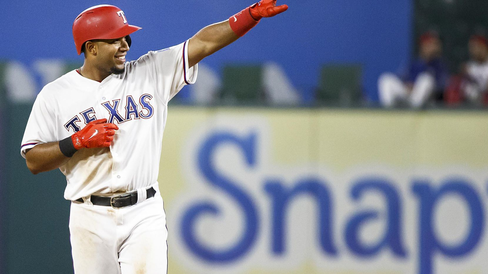 Elvis Andrus espera su primer hijo para las primeras semanas de julio, fecha que podría coincidir con el Juego de las Estrellas de MLB.(Smiley N. Pool)