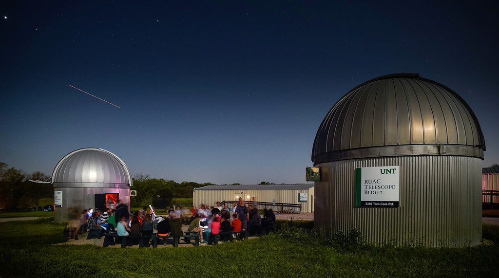 Attendees are able to observe the galaxy through telescopes at the Rafes Urban Astronomy Center's star parties.