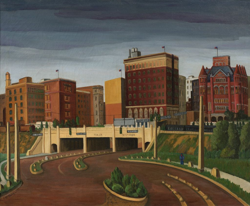 Florence McClung (1894-1992) Triple Underpass, 1945, oil on canvas