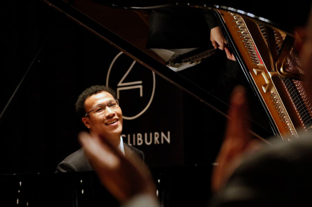 "Cliburn pianist Clayton Stephenson performed Hiromi Uehara's ""The Tom and Jerry Show"" during the Morning News' first ""Duets"" spring 2019 event held at the Dallas Public Library. (Daniel Carde/The Dallas Morning News)"