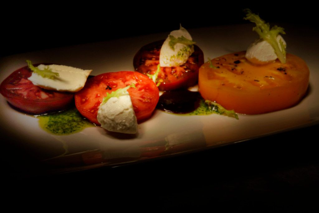 Heirloom Tomatoes & Mozzarella is a chef favorite at the new Al Biernat's restaurant in north Dallas, Texas on Sunday October 22, 2017.  (Lawrence Jenkins/Special Contributor)