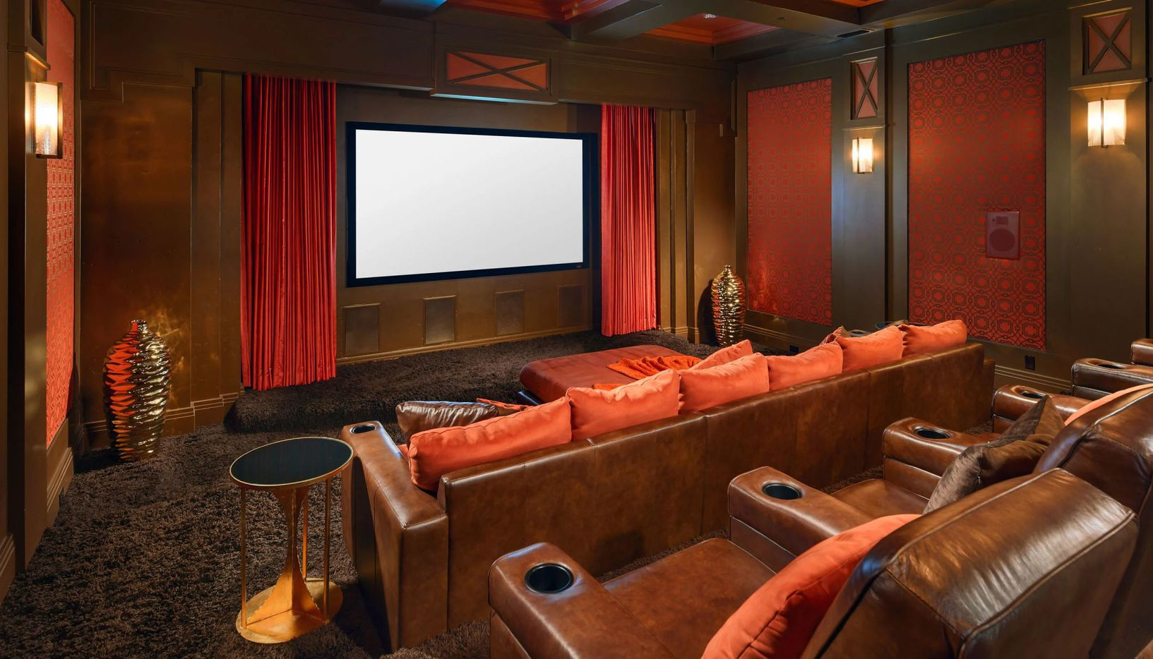 The house has its own movie theater.
