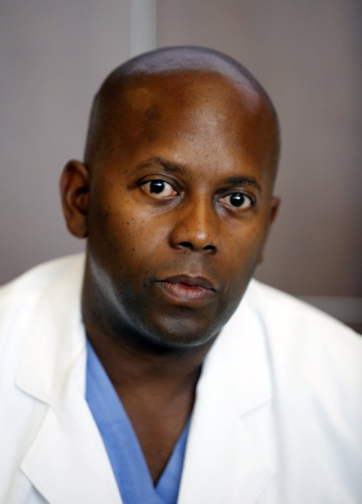 Dr. Brian Williams, staff surgeon at the Rees-Jones Trauma Center spoke frankly about race during an emotional press conference on July 11, 2016, at Parkland Memorial Hospital.