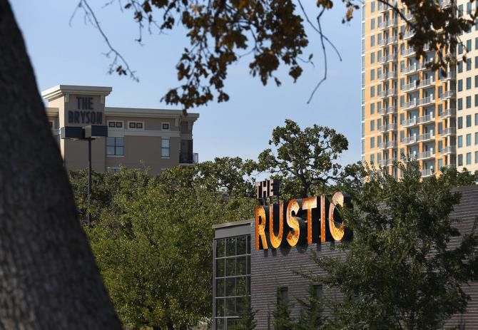 The Rustic in Uptown for most of 2014 has had the highest level of alcohol sales for a Texas restaurant that's not part of a larger facility such as a hotel or sports venue.