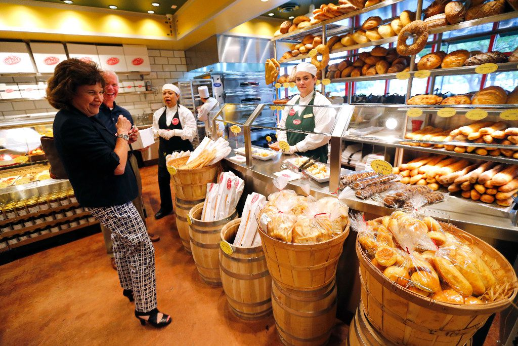 Guests check out the bakery department of Eatzi's. The new shop opened May 11 in Fort Worth.
