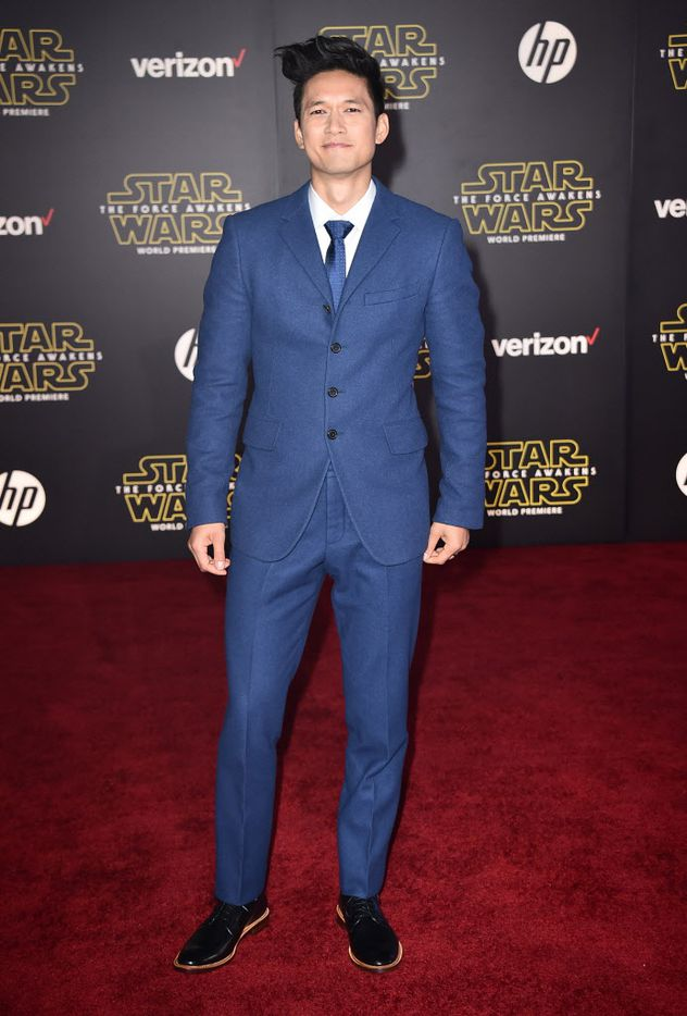 """Harry Shum Jr. arrives at the world premiere of """"Star Wars: The Force Awakens"""" at the TCL Chinese Theatre on Monday, Dec. 14, 2015, in Los Angeles."""