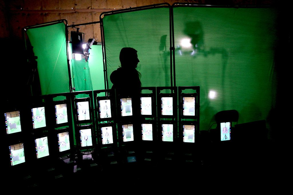 Production crews work with Holocaust survivor Max Glauben at MPS Studios in Dallas on Aug. 21, 2018, to film an interactive hologram that will be displayed at the new Dallas Holocaust and Human Rights Museum, opening in September 2019.