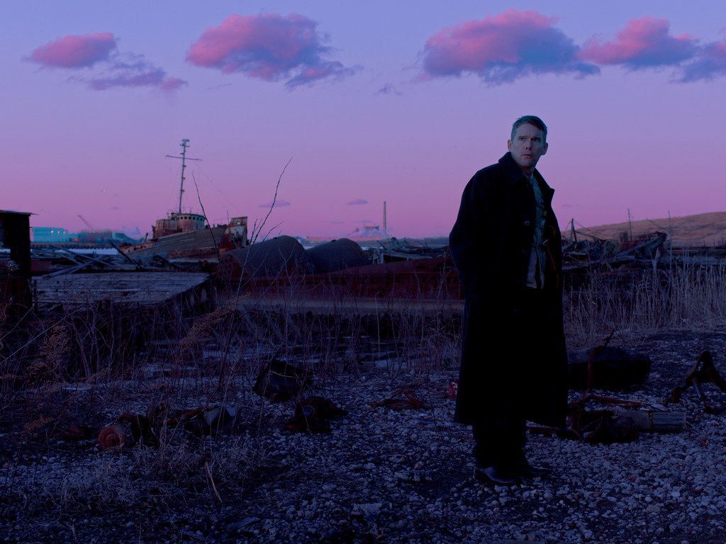 "Ethan Hawke in ""First Reformed."""