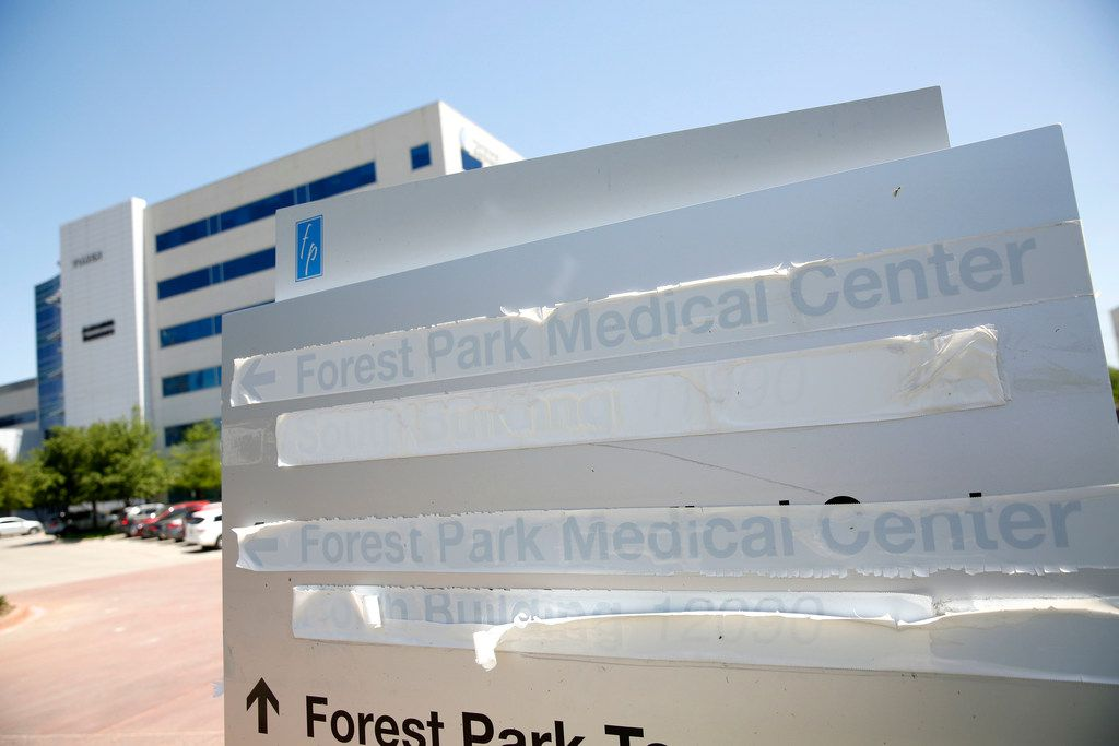 Exterior of the former building of Forest Park Medical Center in Dallas on Friday, April 12, 2019.
