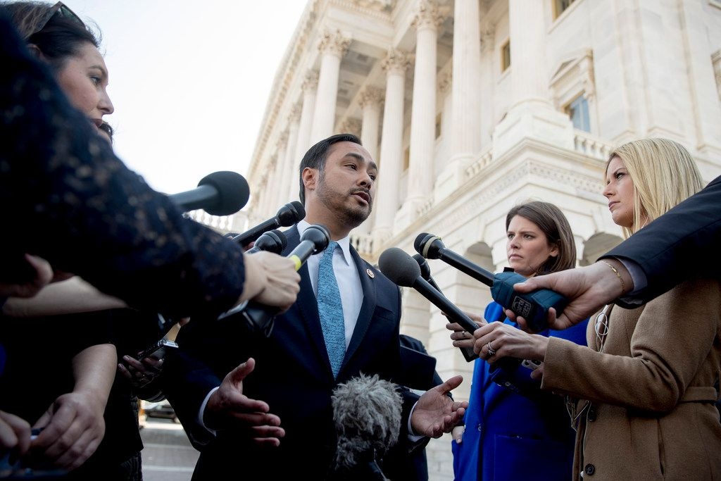 "Rep. Joaquin Castro, D-Texas, said President Donald Trump's national emergency declaration at the U.S.-Mexico border is an ""act of constitutional vandalism.""."