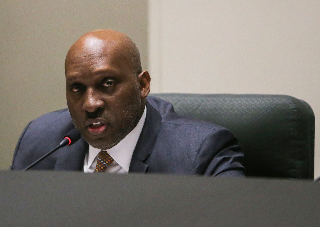 Dallas City Manager T.C. Broadnax speaks during a City Council meeting.