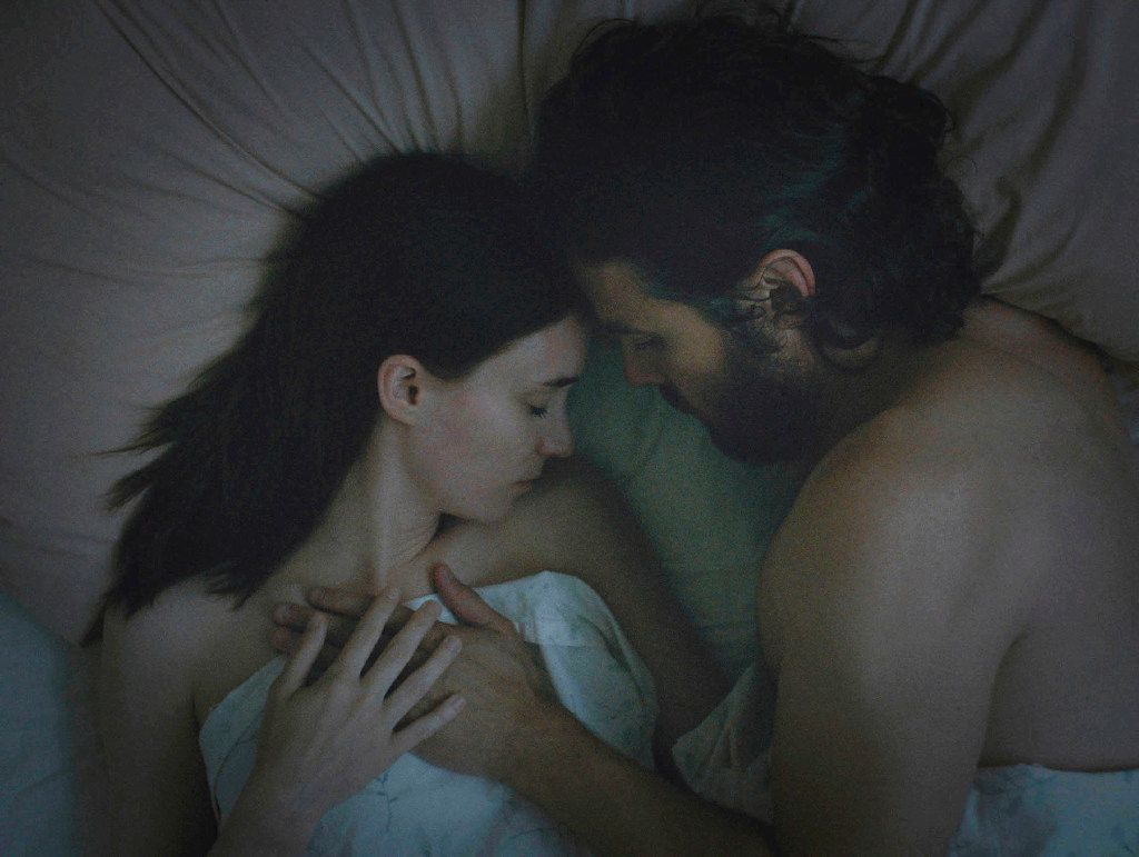 """Rooney Mara (left) and Casey Affleck in a scene from """"A Ghost Story,"""" by filmmaker David Lowery, an official selection of the NEXT program at the 2017 Sundance Film Festival. The film reunites co-stars Mara and Affleck, who starred as outlaw lovers in """"€œAin'€™t Them Bodies Saints."""" (Andrew Droz Palermo/Sundance Institute via AP)"""