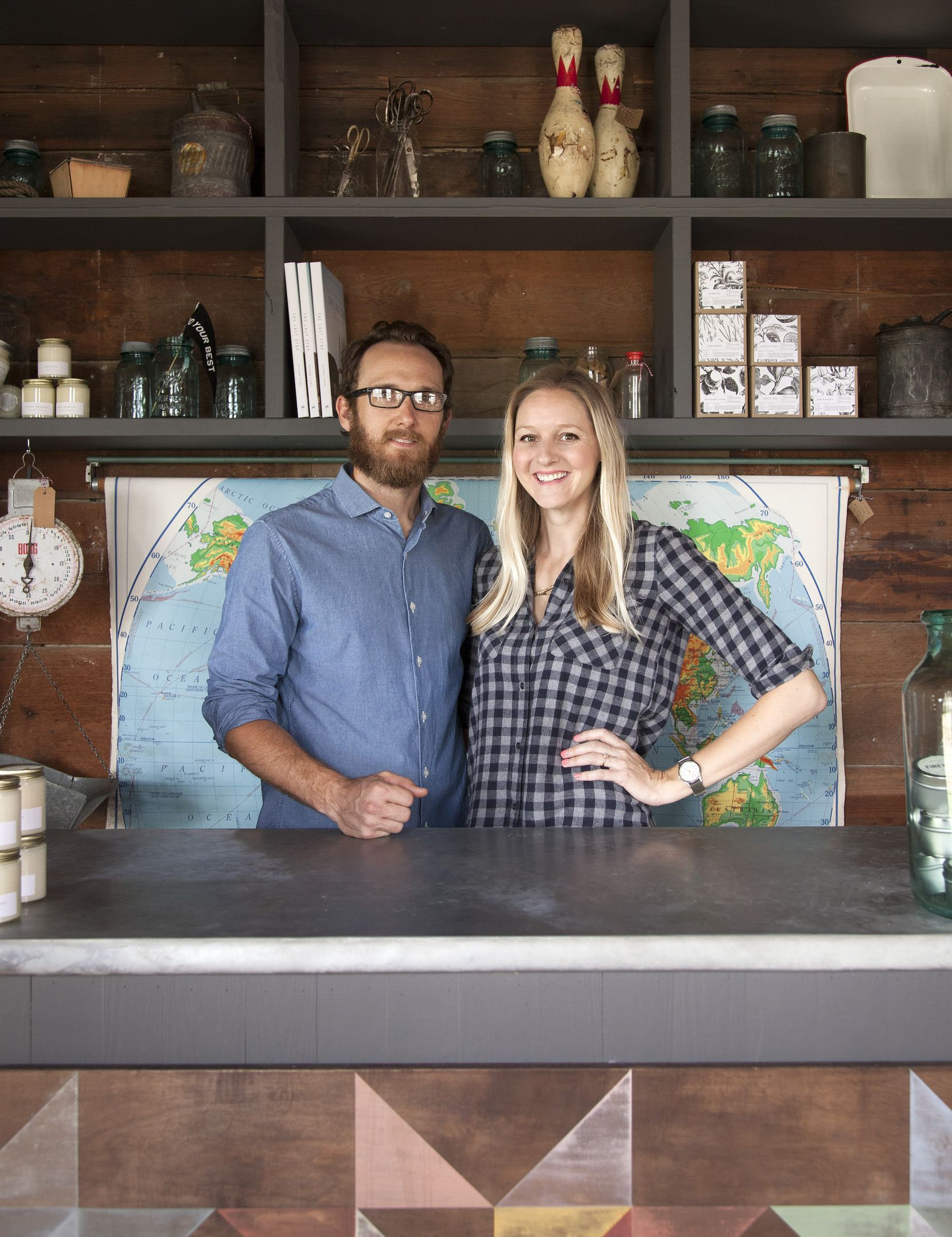 Nick Mosley and Ryann Ford, co-owners of Townsend Provisions in Round Top