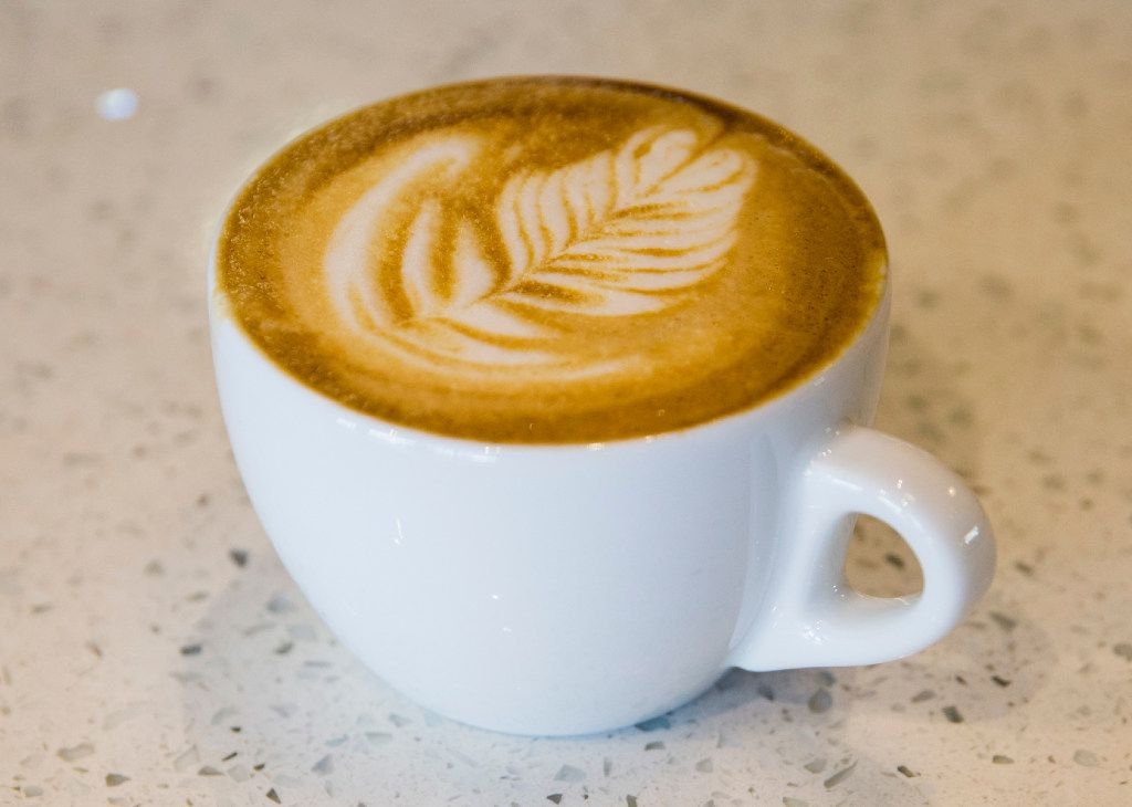 A cappuccino at Noble Coyote Coffee Roasters across the street from Fair Park on Friday, January 20, 2017 on Exposition Avenue in Dallas.