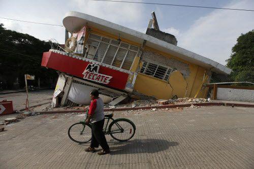Una casa derrumbada en Jojutla, Morelos, luego del sismo del martes. Morelos es uno de los estados más afectados por el temblor del martes.