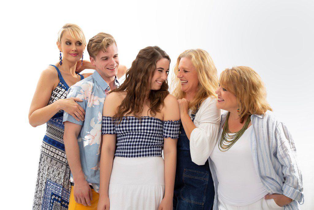 Cara Statham Serber, Matt Homes, Morgan Maxey, Patty Breckenridge and Sara Shelby-Martin in Brick Road's Mamma Mia!