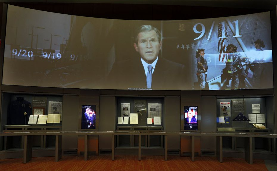 An exhibit portraying the days following 9/11 is on display at the Bush library. (File Photo/Tom Fox)