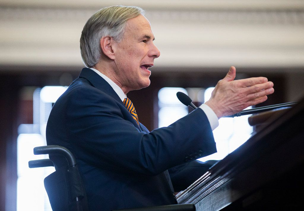 Governor Greg Abbott speaks in the Texas House of Representatives on opening day of the 86th Texas legislature on Tuesday, January 8, 2019 at the Texas state Capitol, in Austin, Texas. (Ashley Landis/The Dallas Morning News)
