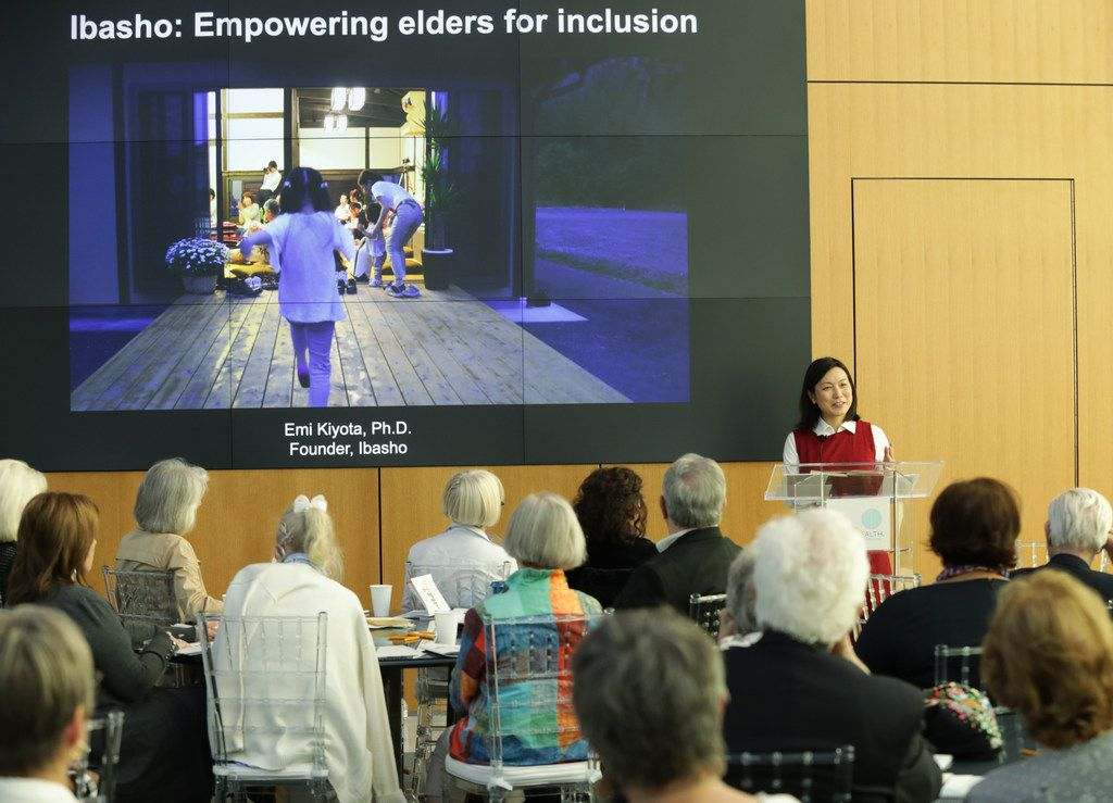 Emi Kiyota discussed aging in the city during The Physical City discussion, a Dallas Festival of Books and Ideas event at UT Dallas Center for BrainHealth, Brain Performance Institute on May 28, 2019.