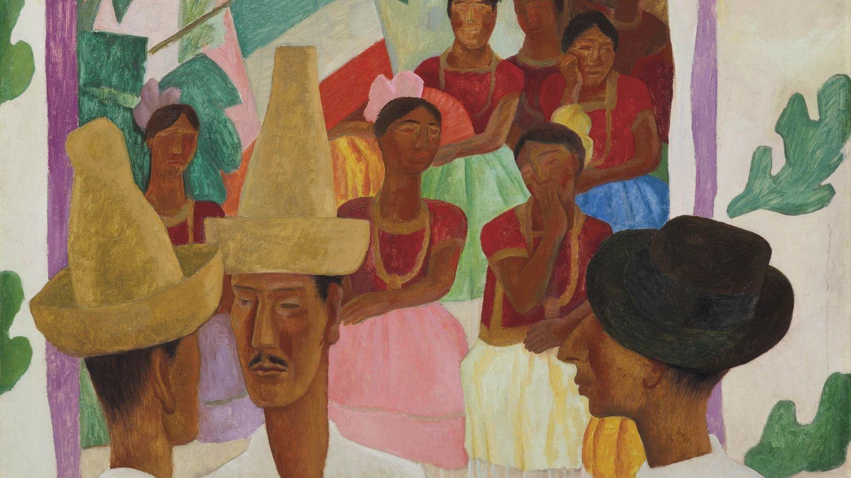 """""""Los rivales"""" de Diego Rivera se vendió por $9.7 millones en Christie's. Foto Christie's"""
