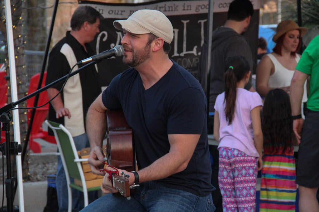 Dustin Becker was one of the musicians who provided entertainment at Luckapalooza in Trinity Groves on March 22, 2015.