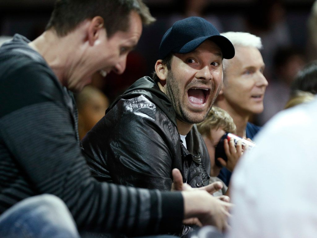 Dallas Cowboys quarterback Tony Romo during a game between the Southern Methodist Mustangs and Cincinnati Bearcats during the second half of play at Moody Coliseum in Dallas, on Sunday, February 12, 2017. SMU defeated Cincinnati Bearcats 60-51. (Vernon Bryant/The Dallas Morning News)