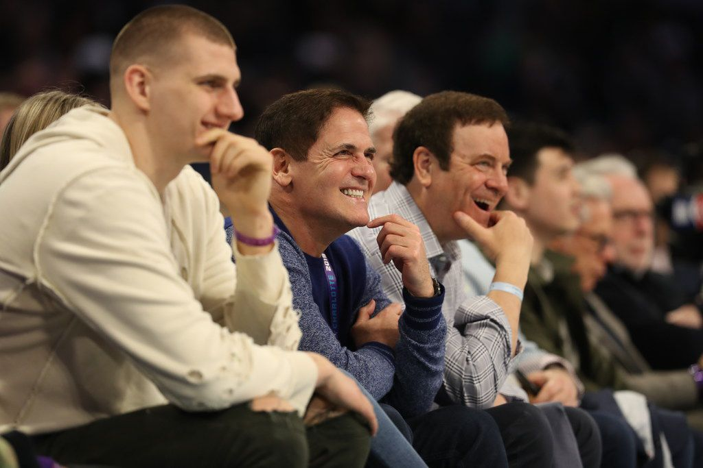 CHARLOTTE, NORTH CAROLINA - FEBRUARY 15: Mark Cuban watches the action at the 2019 Mtn Dew ICE Rising Stars at Spectrum Center on February 15, 2019 in Charlotte, North Carolina. (Photo by Streeter Lecka/Getty Images)