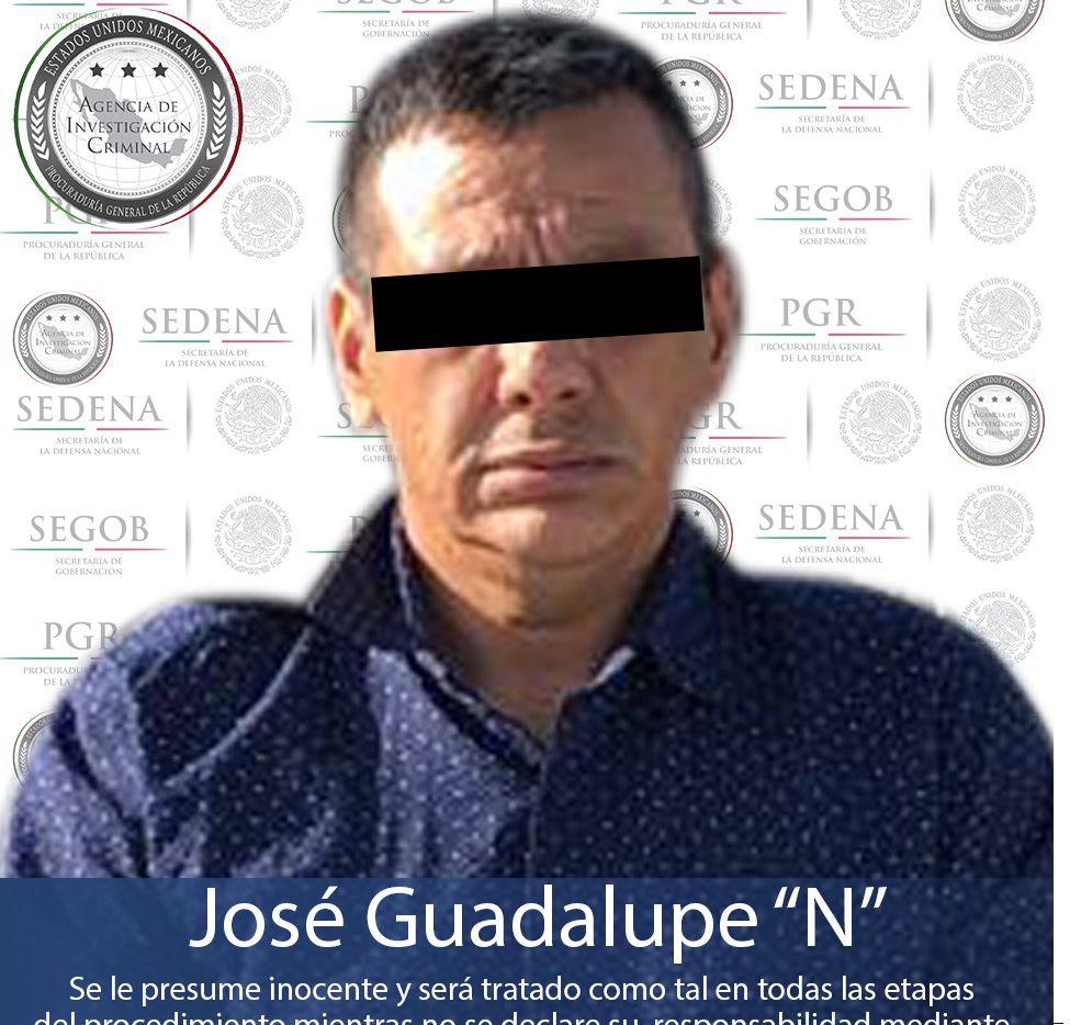 """""""Don Lupe"""" (foto) y su presunto cómplice fueron trasladados a la Ciudad de México y puestos a disposición del Ministerio Público de la Subprocuraduría Especializada en Investigación de Delincuencia Organizada, por su presunta participación en la desaparición de tres ciudadanos italianos."""