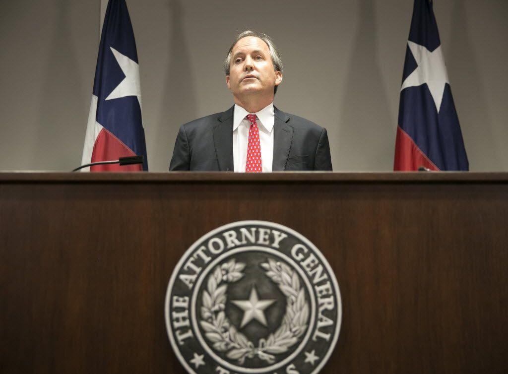 Attorney General Ken Paxton announced Texas' lawsuit to challenge President Barack Obama's transgender bathroom order in 2016.