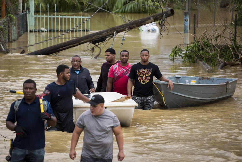 Inundaciones y devastación es el primer escenario tras el paso del huracán María por  Puerto Rico. NYT