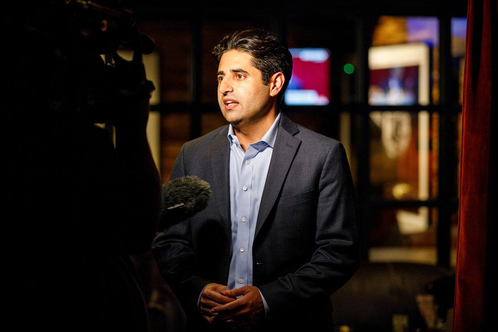 Park Board president Bobby Abtahi awaited the results of the Dallas bond election. The parks proposition passed with more than 70 percent of the vote.