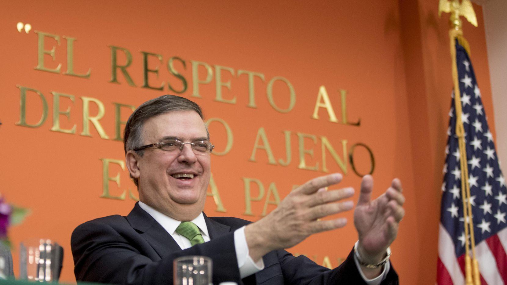 Marcelo Ebrard, secretario de Relaciones Exteriores de México, visitó Washington para negociar aplicación de aranceles.(AP)